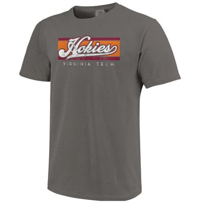 Virginia Tech Bar Script Comfort Colors Tee