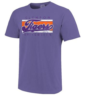 Clemson Bar Script Comfort Colors Tee