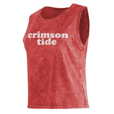 Alabama Chicka-D Cropped College Tank Top