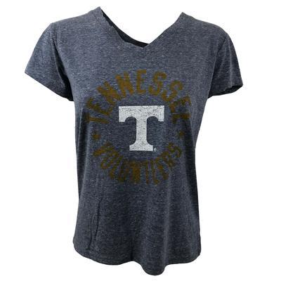 Tennessee Women's V Neck Circle Logo Tee Shirt