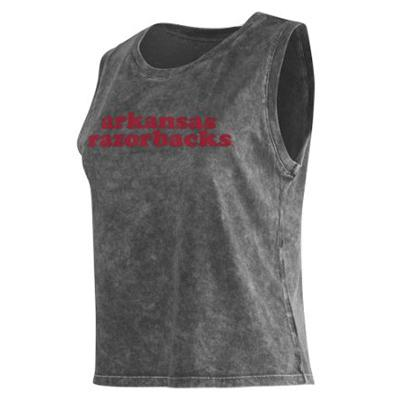Arkansas Chicka-D Cropped College Tank Top