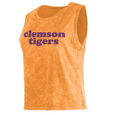 Clemson Chicka-D Cropped College Tank Top