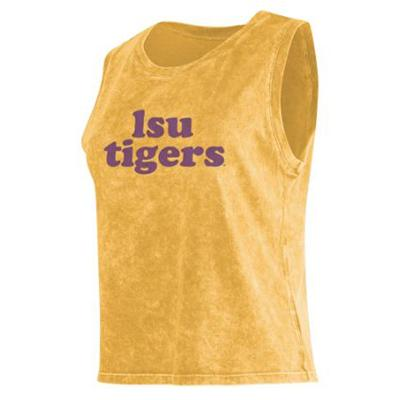 LSU Chicka-D Cropped College Tank Top