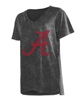 Alabama Chicka-D Mineral Wash V-Neck Tee