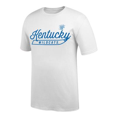 Kentucky Women's Thin Script Tee Shirt WHITE