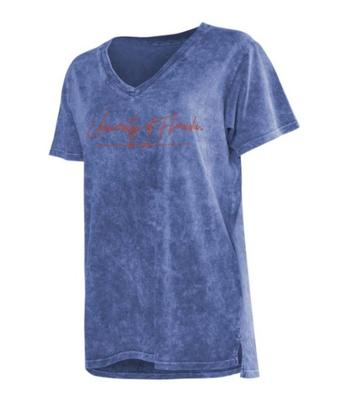 Florida Chicka-D Mineral Wash Script V-Neck Tee