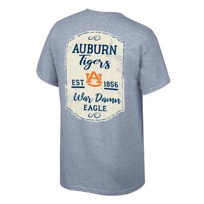 Auburn Women's Plaque and Logo Tee Shirt OXFORD