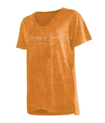 Tennessee Chicka-D Mineral Wash Script V-Neck Tee