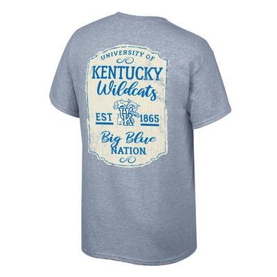 Kentucky Women's Plaque and Logo Tee Shirt OXFORD