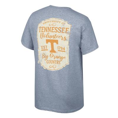 Tennessee Women's Plaque and Logo Tee Shirt OXFORD