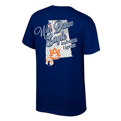 Auburn Women's Script on State Tee Shirt