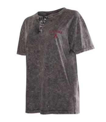 Alabama Chicka-D Mineral Wash Short Sleeve Henley Top