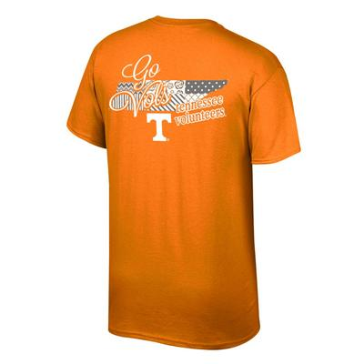Tennessee Women's Script on State Tee Shirt