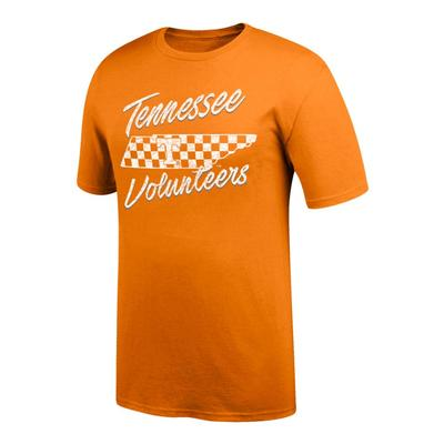 Tennessee Women's Checkerboard State Tee Shirt