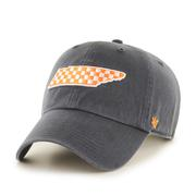 Tennessee ' 47 Checkered State Logo Clean Up Hat
