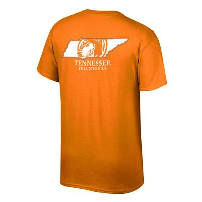 Tennessee Men's Smokey in State Tee Shirt TN_ORG