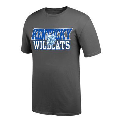 Kentucky Men's WildCats Logo Tee Shirt GRAPHITE
