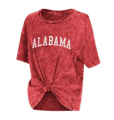 Alabama Chicka-D Mineral Wash Boyfriend Knot Tee