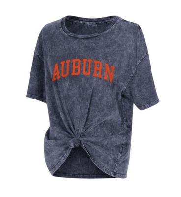 Auburn Chicka-D Mineral Wash Boyfriend Knot Tee