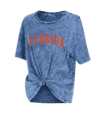 Florida Chicka-D Mineral Wash Boyfriend Knot Tee