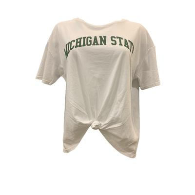 Michigan State Chicka-D Mineral Wash Boyfriend Knot Tee