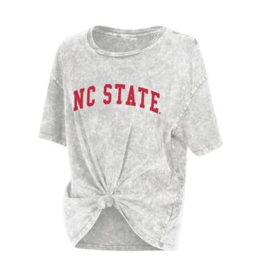 NC State Chicka-D Mineral Wash Boyfriend Knot Tee