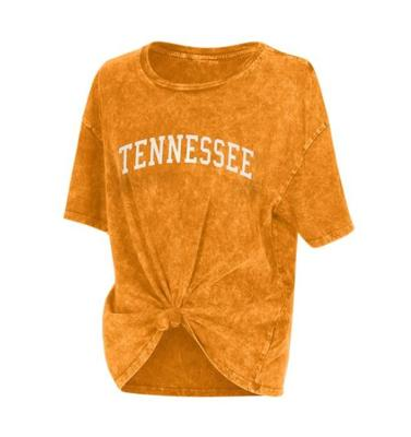 Tennessee Chicka-D Mineral Wash Boyfriend Knot Tee