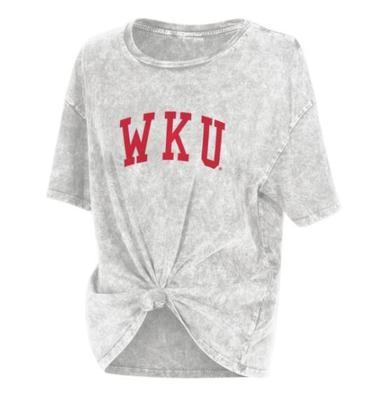 Western Kentucky Chicka-D Mineral Wash Boyfriend Knot Tee