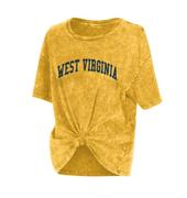 West Virginia Chicka- D Mineral Wash Boyfriend Knot Tee