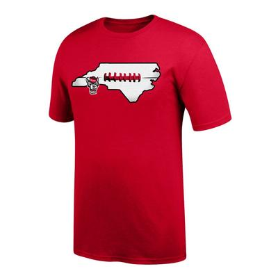 NC State Men's State with Laces Tee Shirt