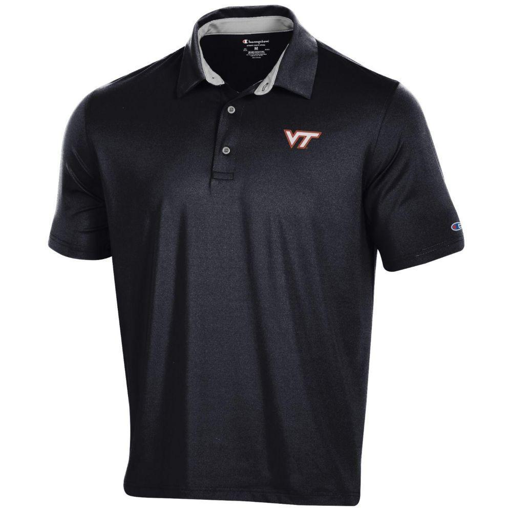 Virginia Tech Men's Champion Solid Polo W Logo