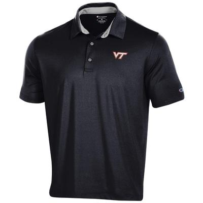 Virginia Tech Men's Champion Solid Polo w Logo