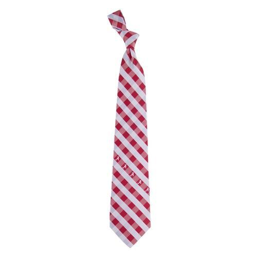 Alabama Woven Polyester Check Tie