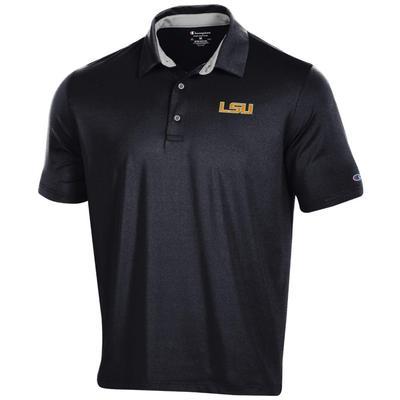 LSU Men's Champion Solid Polo w Logo