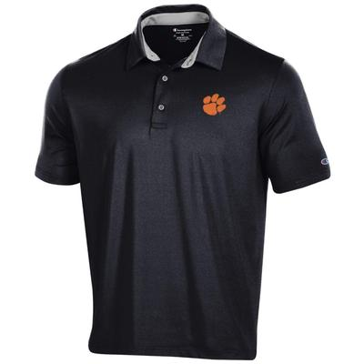 Clemson Men's Champion Solid Polo w Logo
