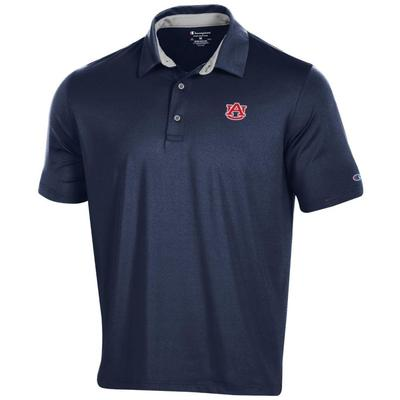 Auburn Men's Champion Solid Polo w Logo