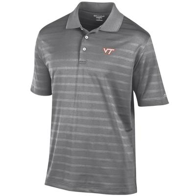 Virginia Tech Men's Champions Stripe Polo w Logo