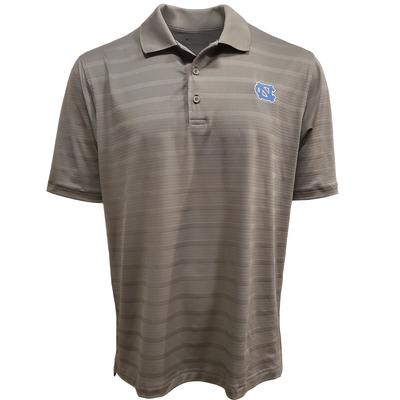 UNC Men's Champion Stripe Polo w Logo
