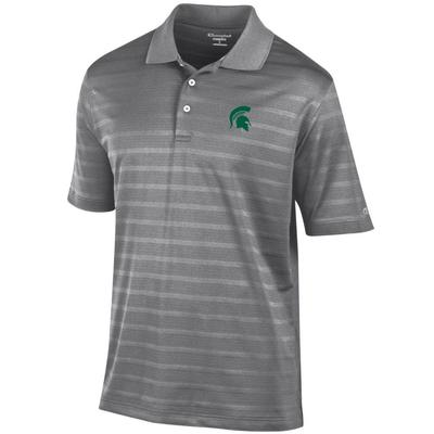Michigan State Men's Champion Stripe Polo w Logo