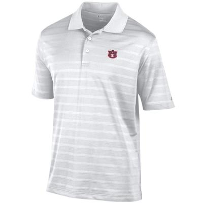 Auburn Men's Champion Stripe Polo w Logo