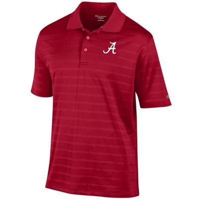 Alabama Men's Champion Stripe Polo w Logo