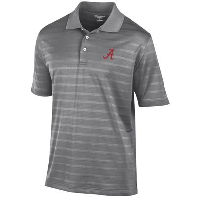 Alabama Men's Champion Stripe Polo w Logo