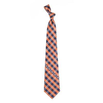 Auburn Woven Polyester Check Tie