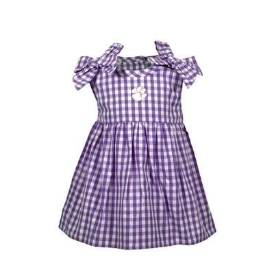 LSU Infant Cora Gingham Dress