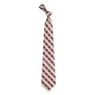 Florida State Woven Polyester Checkered Tie