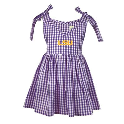 LSU Toddler Cora Gingham Dress
