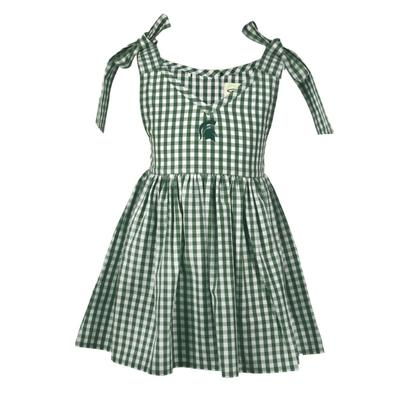 Michigan State Toddler Cora Gingham Dress