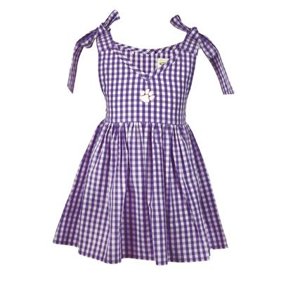 Clemson Toddler Cora Gingham Dress