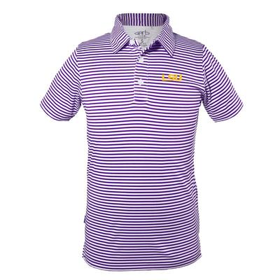 LSU Toddler Carson Striped Polo