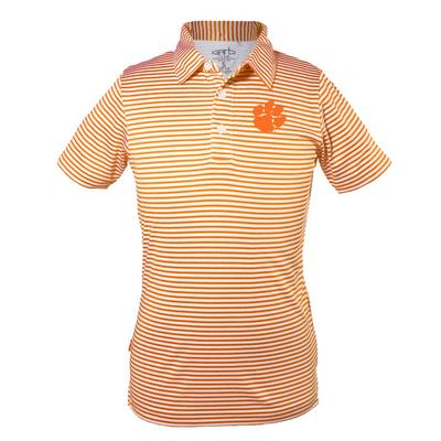 Clemson Toddler Carson Striped Polo